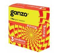 Особо прочные презервативы с утолщёнными стенками Ganzo Strong - 3 шт.