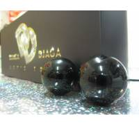 Чёрные вагинальные шарики из стекла