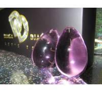 Фиолетовые вагинальные шарики из стекла