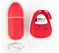 Красное виброяичко с пультом ДУ - 8 см.