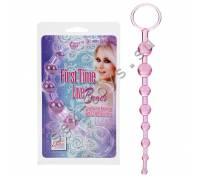 Розовая анальная цепочка FIRST TIME LOVE BEADS SE-0004-31-2