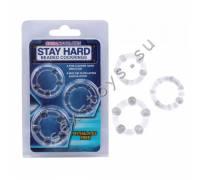 Набор стимулирующих колецStay Hard прозрачные CN-330300012
