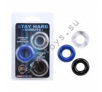 Набор стимулирующих колецStay Hard разноцветные CN-330300899