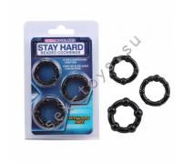Набор стимулирующих колецStay Hard черные CN-330300015