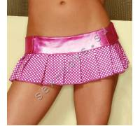 Клубная юбка в горошек CL101-PNK