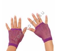 Митенки в мелкую сетку фиолетовые 1042-PUR