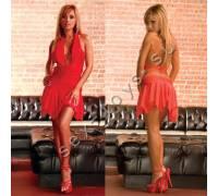 Клубное платье с ассимметричной юбкой CL083-RED
