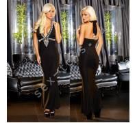 """Вечернее черное платье """"в пол"""" от Hustler GOWN1-S/M"""