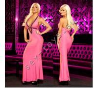 """Вечернее розовое платье """"в пол"""" от Hustler S/M GOWN2-SM"""