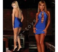 Откровенное синее мини-платье CL005-BLU