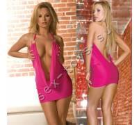 Ярко-розовое платье PRIVATE LOOK CL086-HPNK