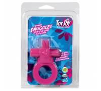 Виброкольцо на пенис со стимулятором клитора Bunny Snuggles Pink 9816TJ