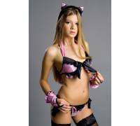 """Костюм """"Pretty Kitty"""" черно-розовый размер 42-44 2580-42-44"""