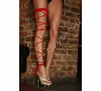 Подвязка красная CRISS-CROSS для танцев CL089-RED