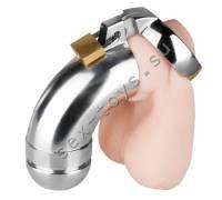 Металлический пояс верности для мужчин закрытого типа со съемным наконечником EF-CB3000E