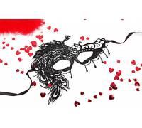 Черная ажурная текстильная маска Милена