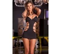 Облегающее платьице с имитацией шнуровок по бокам