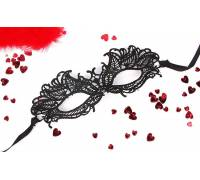 Черная ажурная текстильная маска Эмилия