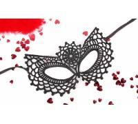 Черная ажурная текстильная маска Виолетта