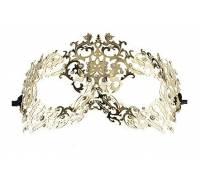 Золотистая металлическая маска Forrest Queen Masquerade