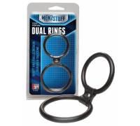 Чёрное двойное эрекционное кольцо Dual Rings Black