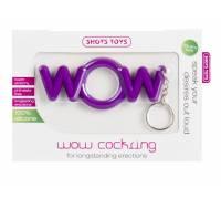Фиолетовое эрекционное кольцо-брелок WOW Cockring