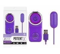 Фиолетовое виброяичко с 10 режимами вибрации