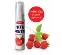 Гель-смазка Tutti-frutti с земляничным вкусом - 30 гр.