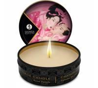 Массажная свеча Rose Petals с ароматом розы - 30 мл.