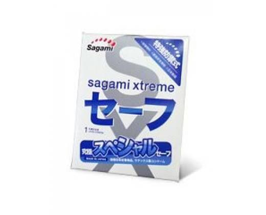 Презерватив Sagami Xtreme Ultrasafe с двойным количеством смазки - 1 шт.