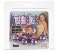 Сиреневые анальные бусы Crystalline Beads Medium