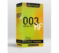 Сверхтонкие плотно облегающие презервативы Okamoto 003 Real Fit - 10 шт.