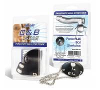 Утяжка для мошонки из искусственной кожи с цепочками PARACHUTE BALL STRETCHER BLM1726
