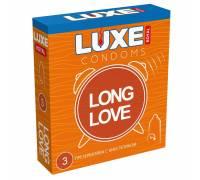 Презервативы с продлевающим эффектом LUXE Royal Long Love - 3 шт.