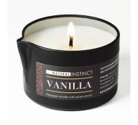 Массажная свеча с феромонами Natural Instinct VANILLA - 70 мл