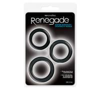 Набор из 3 чёрных эрекционных колец Renegade Diversity Rings Black