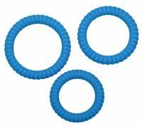 Набор из трех синих силиконовых колец Lust