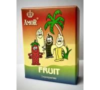 """Ароматизированные презервативы AMOR Fruit """"Яркая линия"""" - 3 шт"""