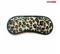 Леопардовая текстильная маска на глаза на резиночке