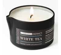 Массажная свеча с феромонами Natural Instinct WHITE TEA - 70 мл