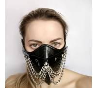"""Чёрная маска на нижнюю часть лица """"Шахерезада"""""""