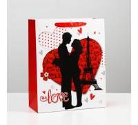 """Подарочный пакет """"Романтичная пара Love"""" - 32 х 26 см."""