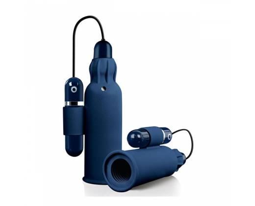 Синий мастурбатор с вибрацией TREMBLE STROKER