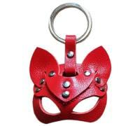 Красный сувенир-брелок «Кошка»