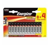 Батарейки Energizer Max E92/AAA 1.5V - 8+4 шт.