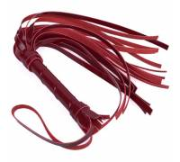 Бордовая многохвостая лаковая плеть - 40 см.