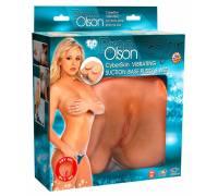 Вагина и анус с вибрацией Bree Olson CyberSkin Vibrating Suction-Base Pussy & Ass