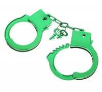 """Зеленые пластиковые наручники """"Блеск"""""""