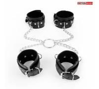 Комплект наручников и оков на металлических креплениях с кольцом