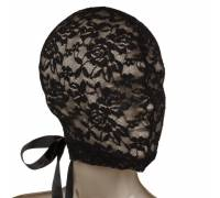 Кружевная маска-шлем на шнуровке сзади Corset Lace Hood